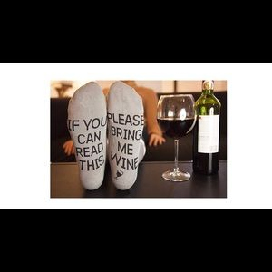 Other - Gray bring me wine socks